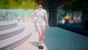 VR Kanojo Costume (swimsuit, tutleneck dress)